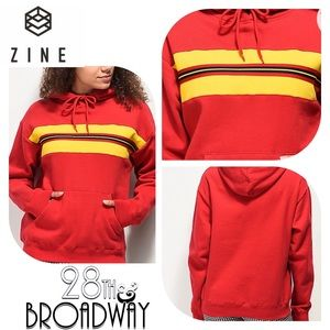 Zine - Tango Red & Lemon Hoodie Sweatshirt